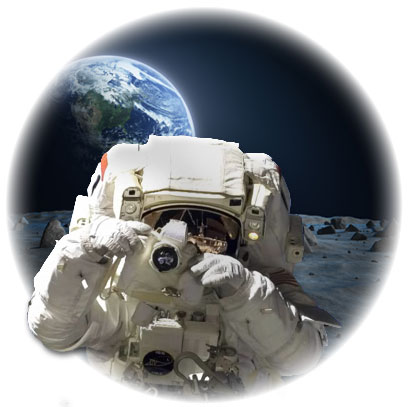 Astronaut taking pictures